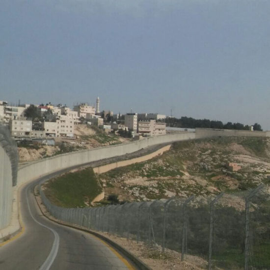 Separation wall in East Jerusalem