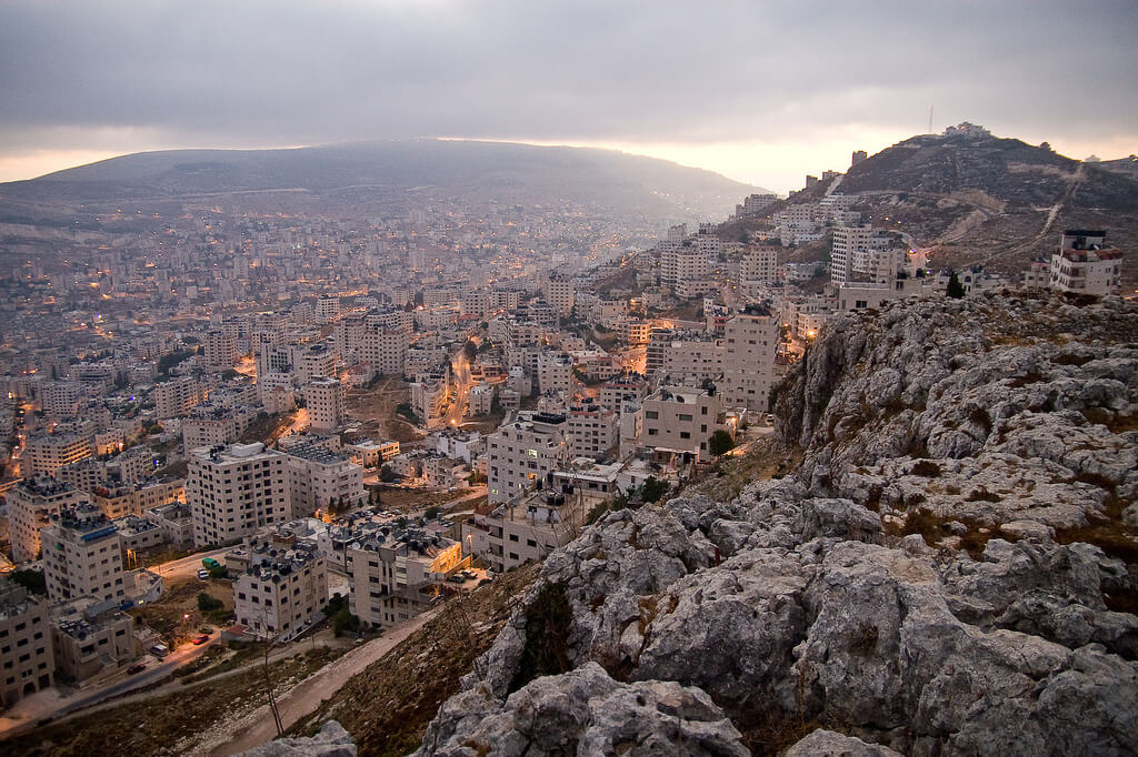 Nablus from Gerizim mountain