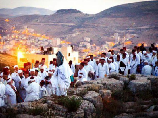 samaritan pilgrims on mount garizim